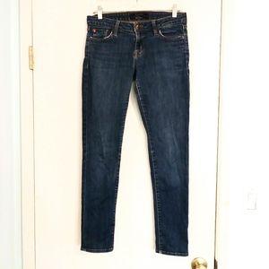 Hudson Kent Mid Rise Skinny Jeans in Dev Shade B